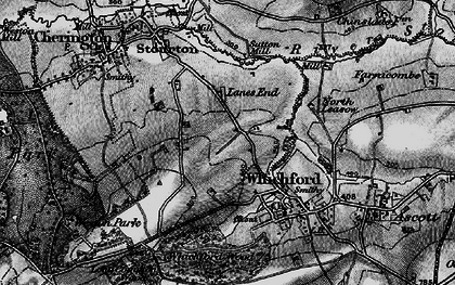 Old map of Whichford Mill in 1896
