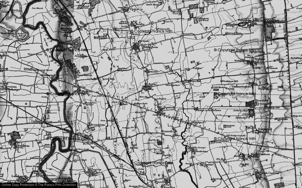 Old Map of Stow, 1899 in 1899