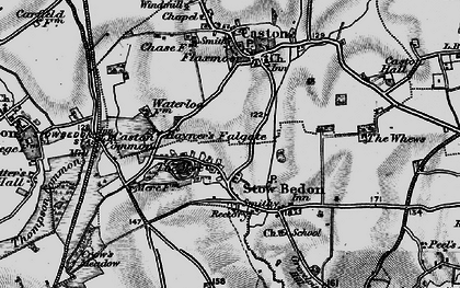 Old map of Whews, The in 1898