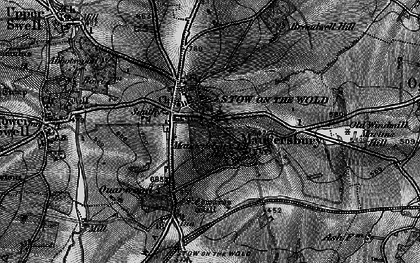 Old map of Stow-on-the-Wold in 1896