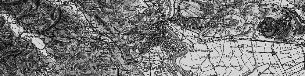 Old map of Stow Park in 1897
