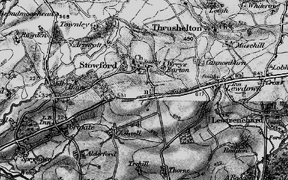 Old map of Wreys Barton in 1895