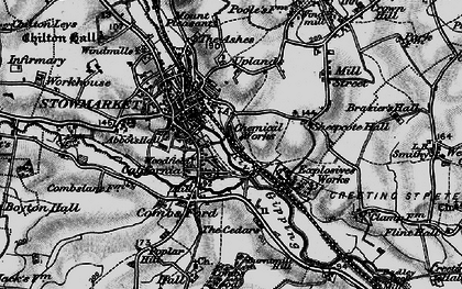 Old map of Stowmarket in 1898