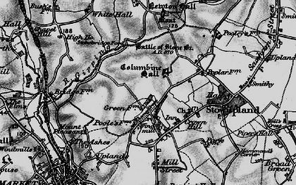 Old map of Stowupland in 1898
