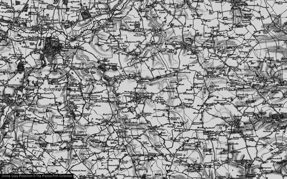 Old Map of Stradbroke, 1898 in 1898