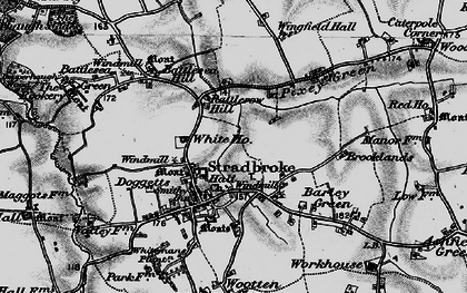 Old map of Wingfield Hall in 1898