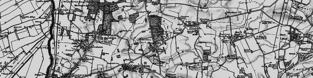Old map of Toombers Wood in 1898