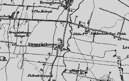 Old map of Leadenham Low Fields in 1895