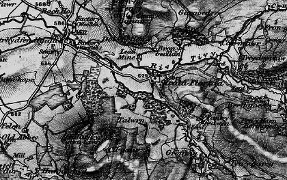Old map of Afon Fflûr in 1898