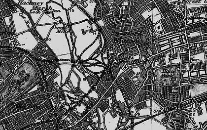 Old map of Stratford New Town in 1896