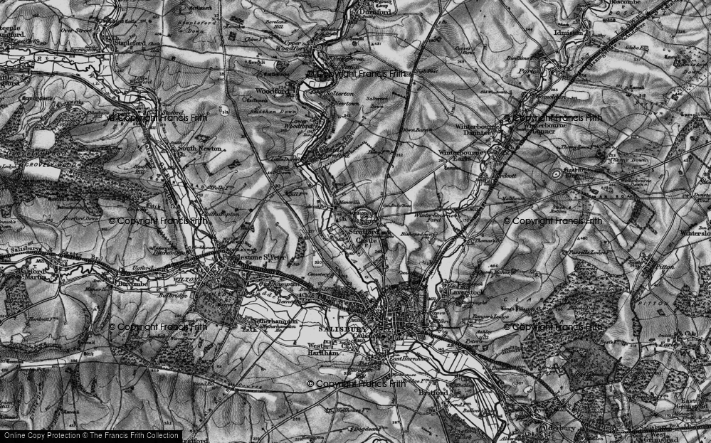 Old Map of Historic Map covering Avon Br in 1895