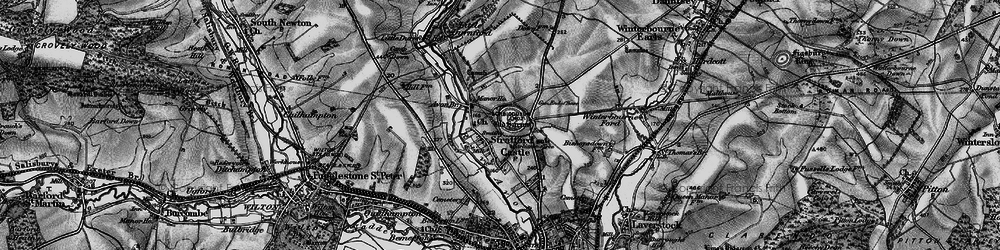Old map of Old Sarum in 1895