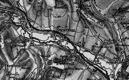 Old map of Wrackleford in 1897