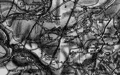 Old map of Stratton-on-the-Fosse in 1898