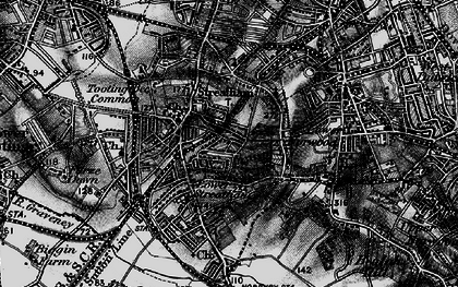 Old map of Streatham in 1895