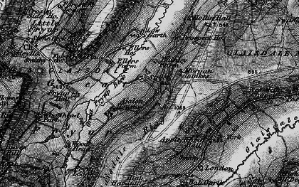 Old map of Wolf Pit (Tumulus) in 1898