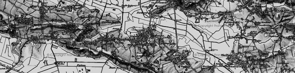 Old map of Street in 1898