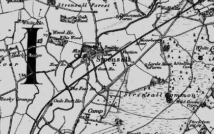Old map of Strensall in 1898