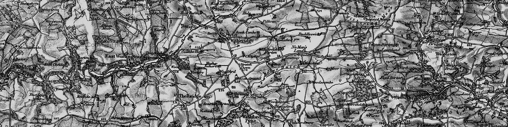 Old map of Woodington in 1898