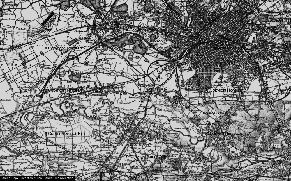 Old Map of Historic Map covering Barfoot Br in 1896