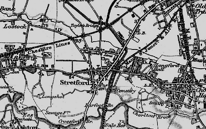 Old map of Barfoot Br in 1896