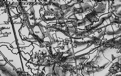 Old map of Wheelbarrow Castle in 1899