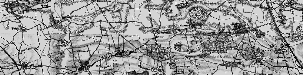 Old map of Woolfox Wood in 1895