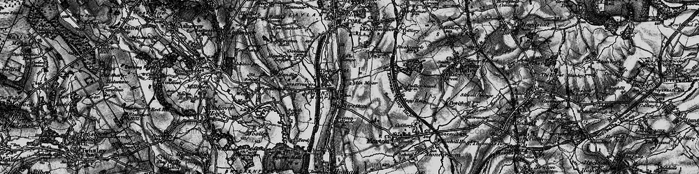 Old map of Stretton in 1896