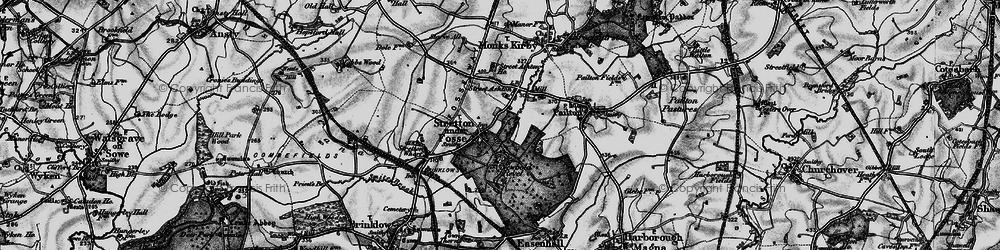 Old map of Stretton under Fosse in 1899