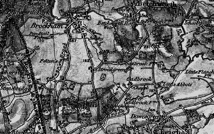 Old map of Strood Green in 1896