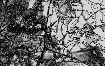Old map of Stroude in 1896