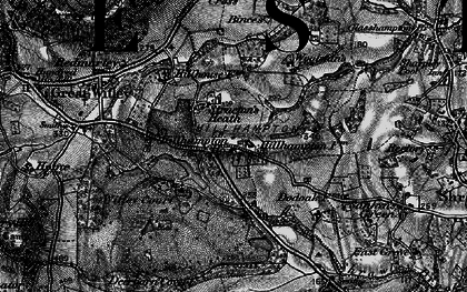 Old map of Witley Court in 1898