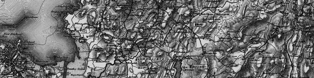 Old map of Afon Alaw in 1899