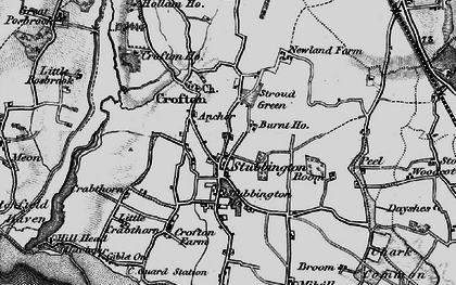 Old map of Stubbington in 1895