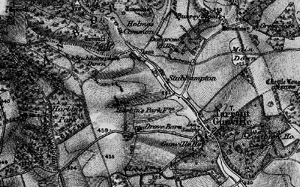 Old map of Ashmore Bottom in 1895