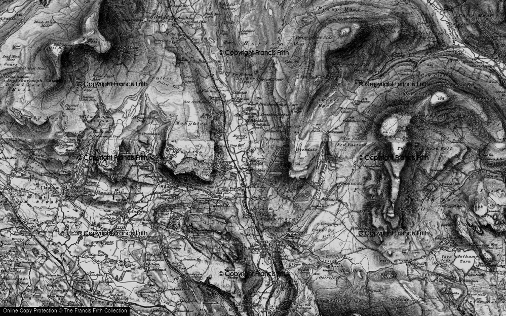 Old Map of Historic Map covering Larch Tree Hole in 1898