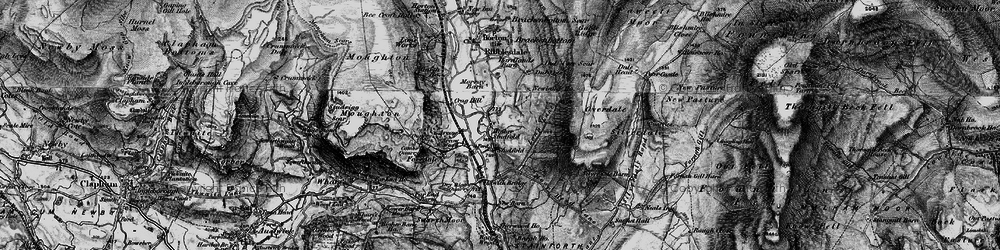 Old map of Arcow Quarry in 1898