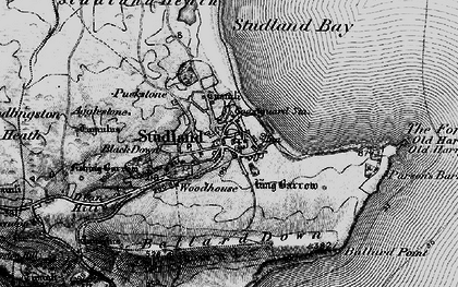 Old map of Ballard Down in 1897