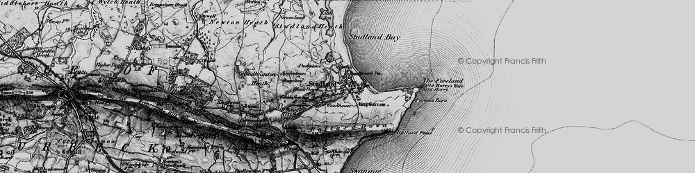 Old map of Agglestone in 1897