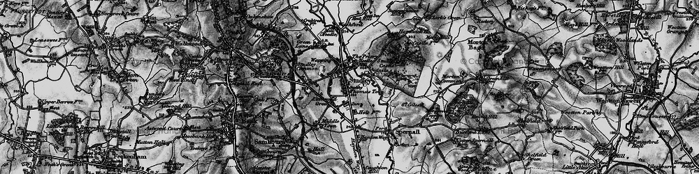 Old map of Studley in 1898