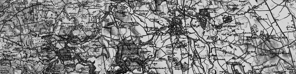 Old map of Aismunderby Village in 1897