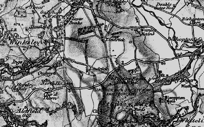 Old map of Studley Royal in 1897