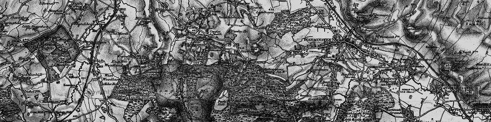 Old map of Whitbourne Springs in 1898