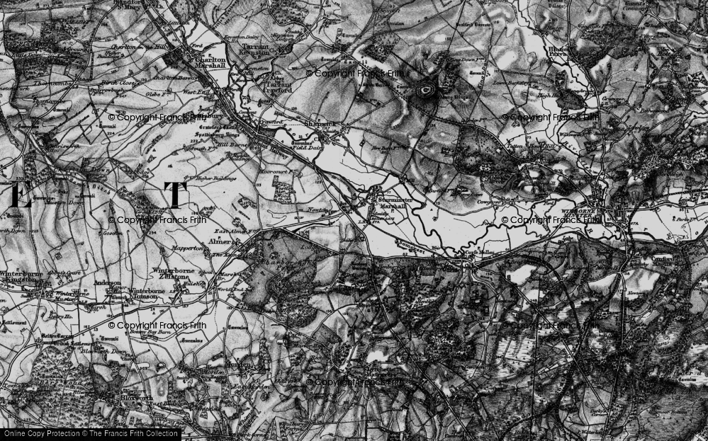 Old Map of Historic Map covering Bailie Ho in 1895
