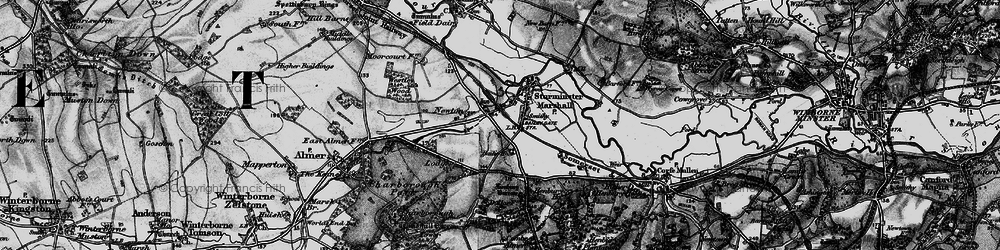 Old map of White Mill in 1895