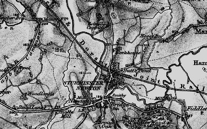 Old map of Sturminster Newton in 1898