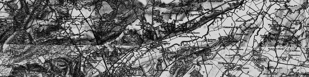 Old map of Sturry in 1895
