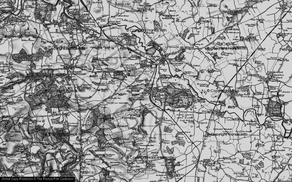Old Map of Historic Map covering Limekiln Wood in 1898