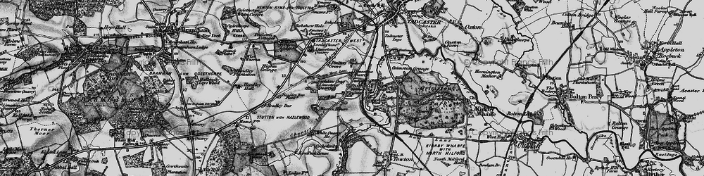 Old map of Wingate Hill in 1898
