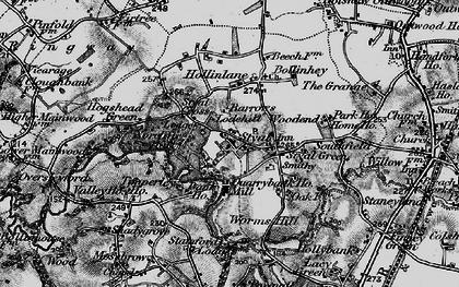 Old map of Styal in 1896